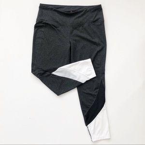 Tangerine Gray Colorblock Crop Capri Yoga Leggings